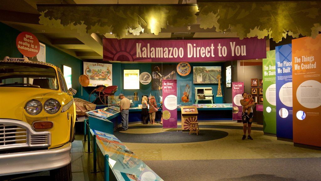 Kalamazoo Valley Museum which includes interior views as well as a small group of people