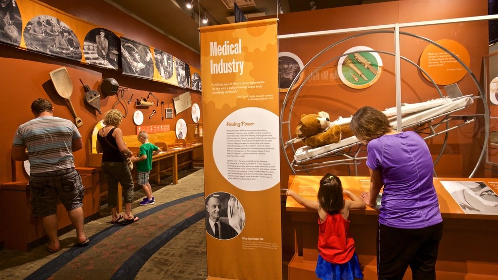 Kalamazoo Valley Museum which includes interior views as well as a family