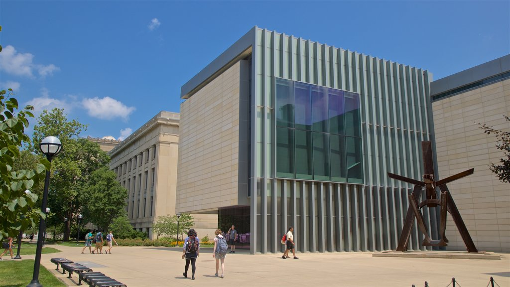 University of Michigan Museum of Art showing modern architecture as well as a couple
