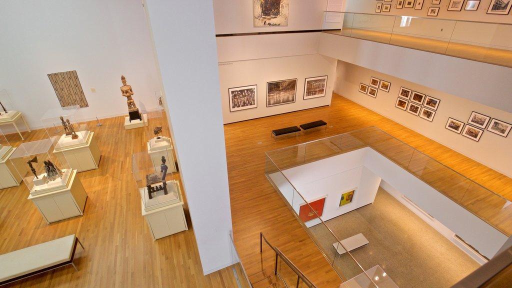 University of Michigan Museum of Art showing interior views and art