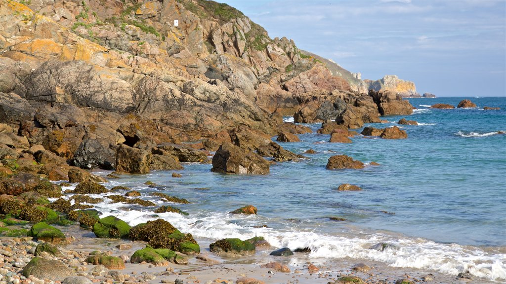 Petit Bot Bay which includes general coastal views, rugged coastline and a beach