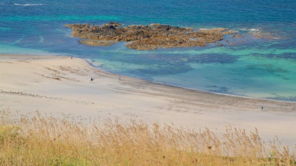 St Ouen featuring landscape views, general coastal views and a sandy beach