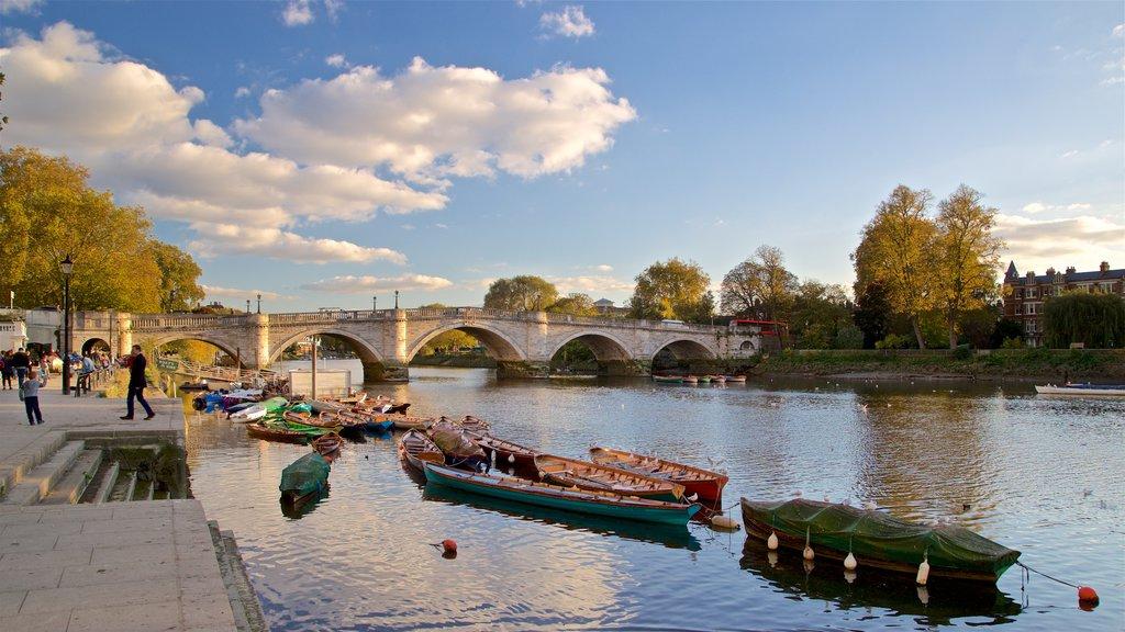 Richmond Bridge featuring a river or creek and a bridge