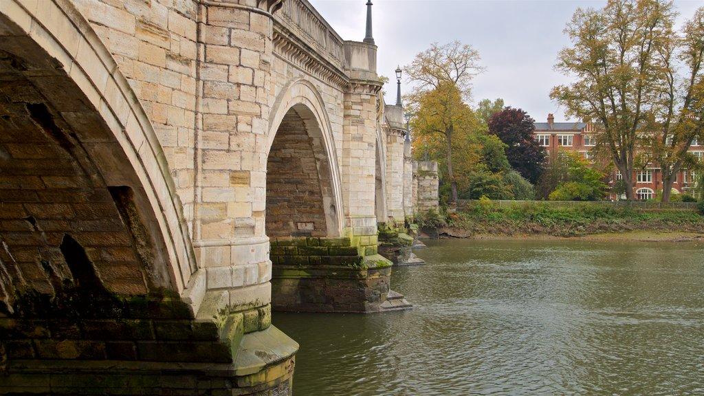 Richmond Bridge showing a river or creek and a bridge