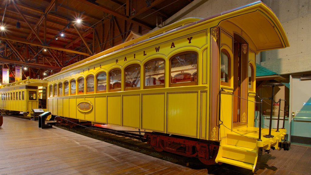 California State Railroad Museum which includes interior views and railway items
