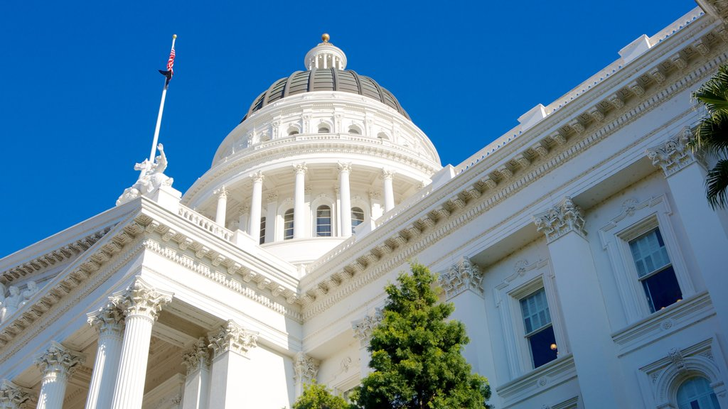 California State Capitol which includes an administrative buidling and heritage architecture