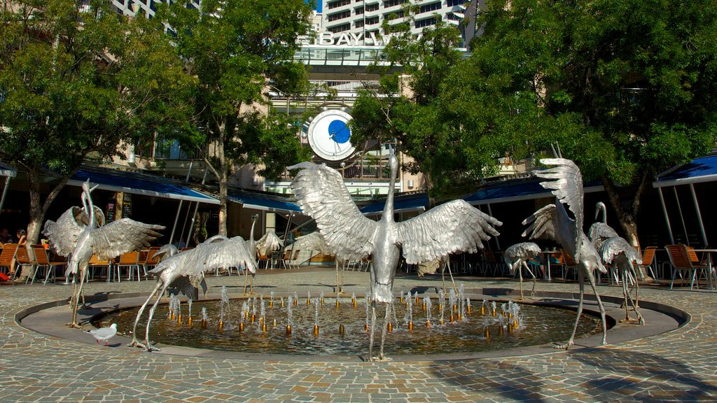 Darling Harbour featuring outdoor art, a statue or sculpture and a city