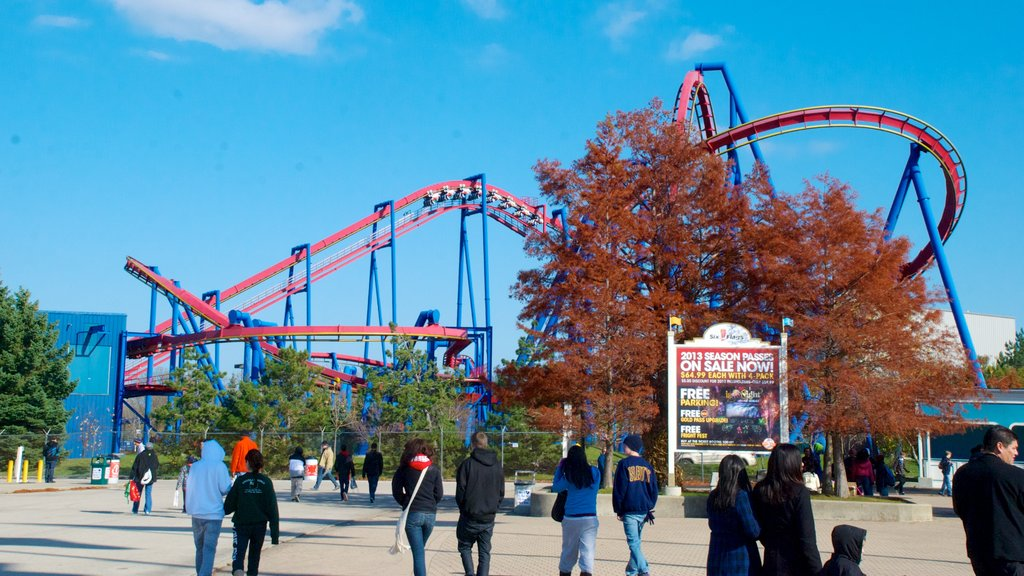 Six Flags Great America que incluye paseos