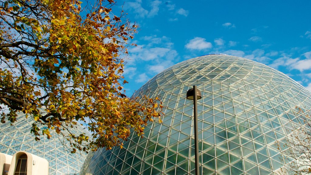 Mitchell Park Horticultural Conservatory which includes modern architecture