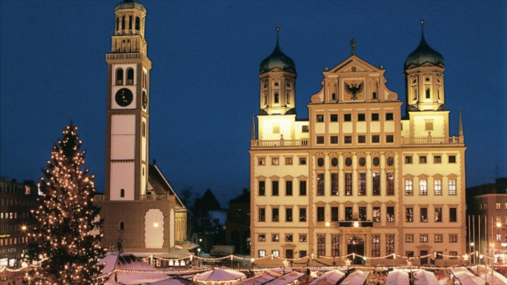 Augsburg showing heritage architecture, a city and night scenes