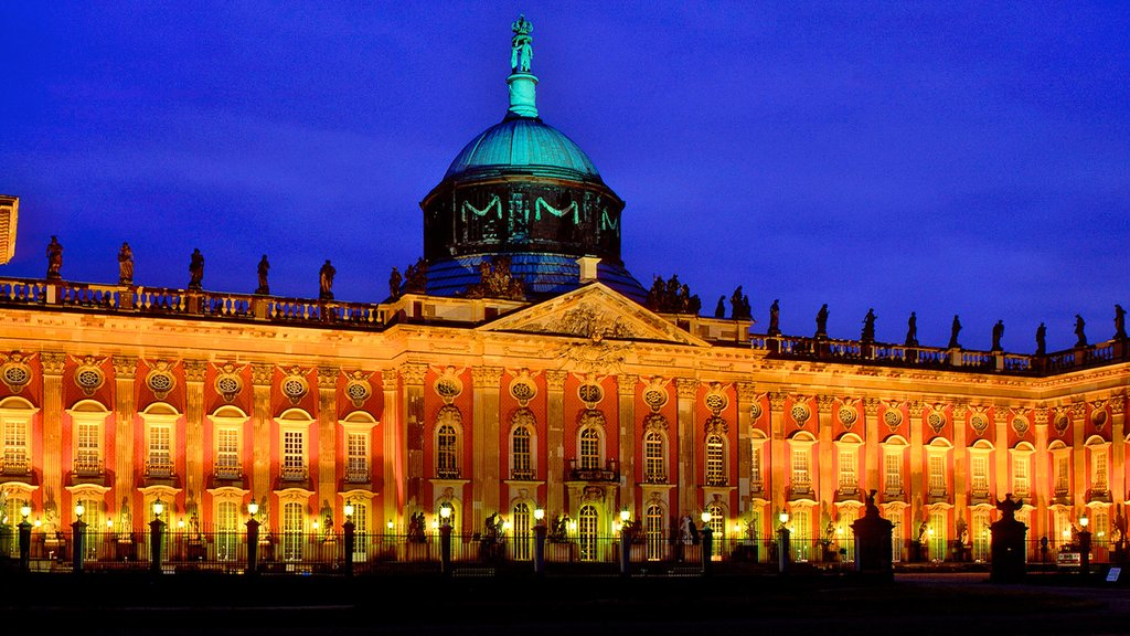 Potsdam featuring a city, heritage architecture and a castle