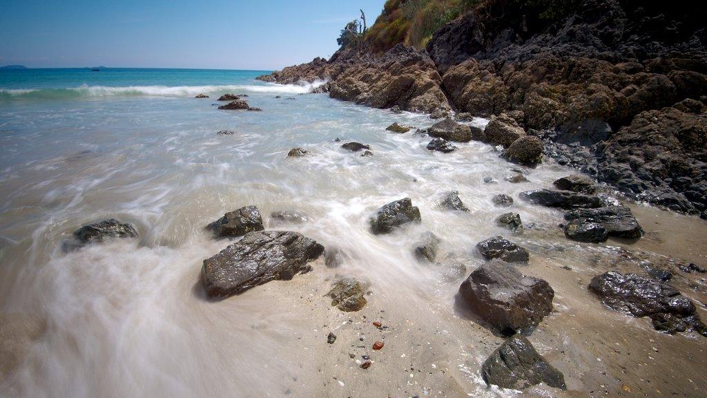 Palm Beach mostrando una playa de arena, vistas de paisajes y costa rocosa