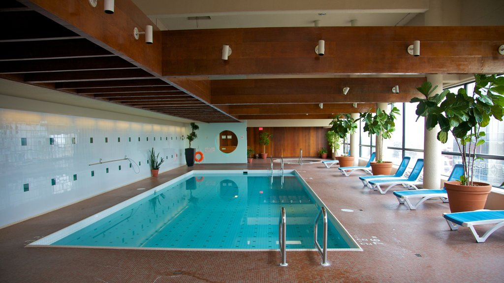 Edmonton which includes a pool and interior views