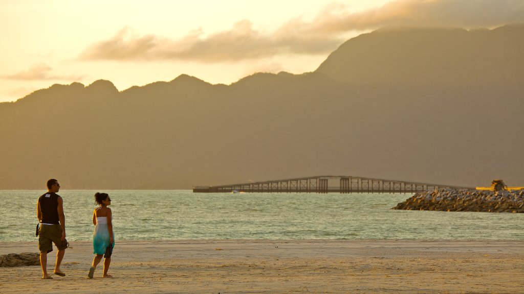 Langkawi showing general coastal views, a beach and landscape views