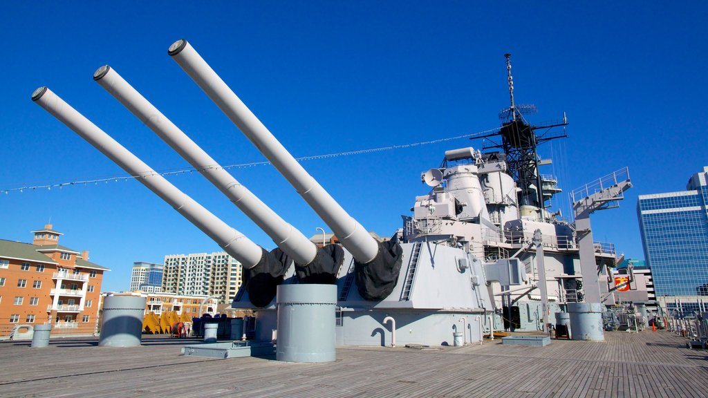 USS Wisconsin BB-64 which includes military items