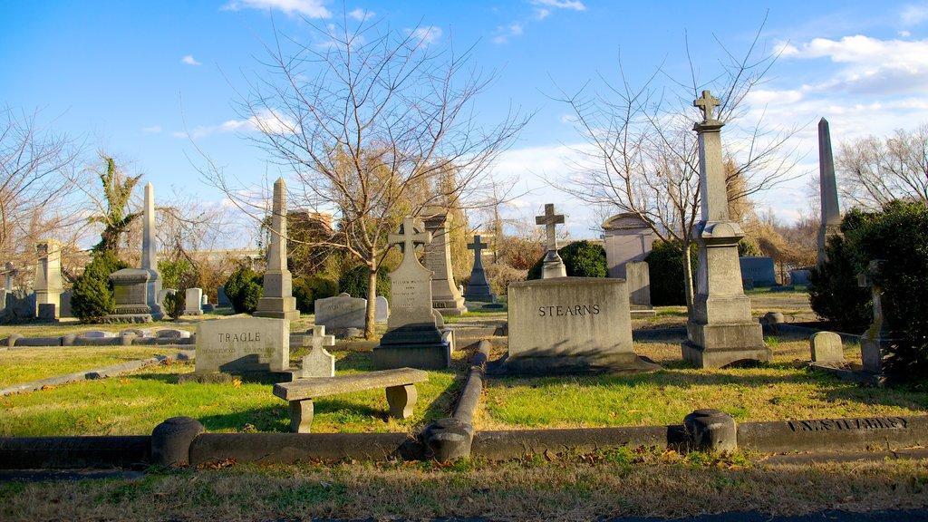 Richmond featuring a memorial, a cemetery and a park