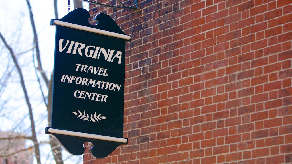 Virginia State Capitol showing signage