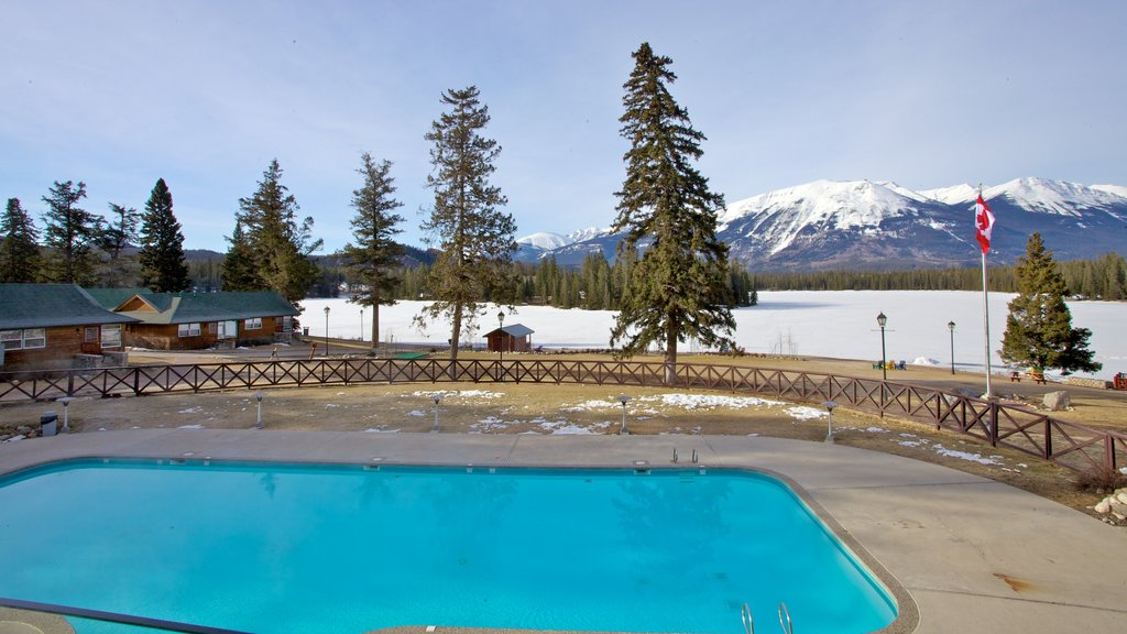 Fairmont Jasper Park Lodge Golf Course which includes a pool and snow