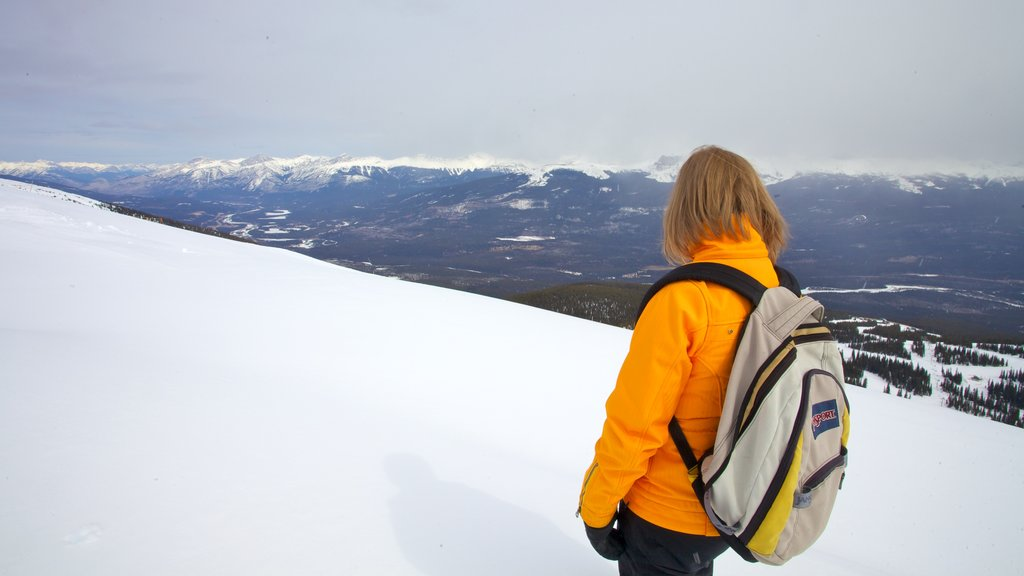 Marmot Basin showing mountains, landscape views and hiking or walking