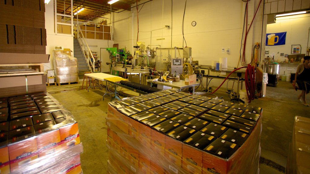Alley Kat Brewery showing industrial elements and interior views