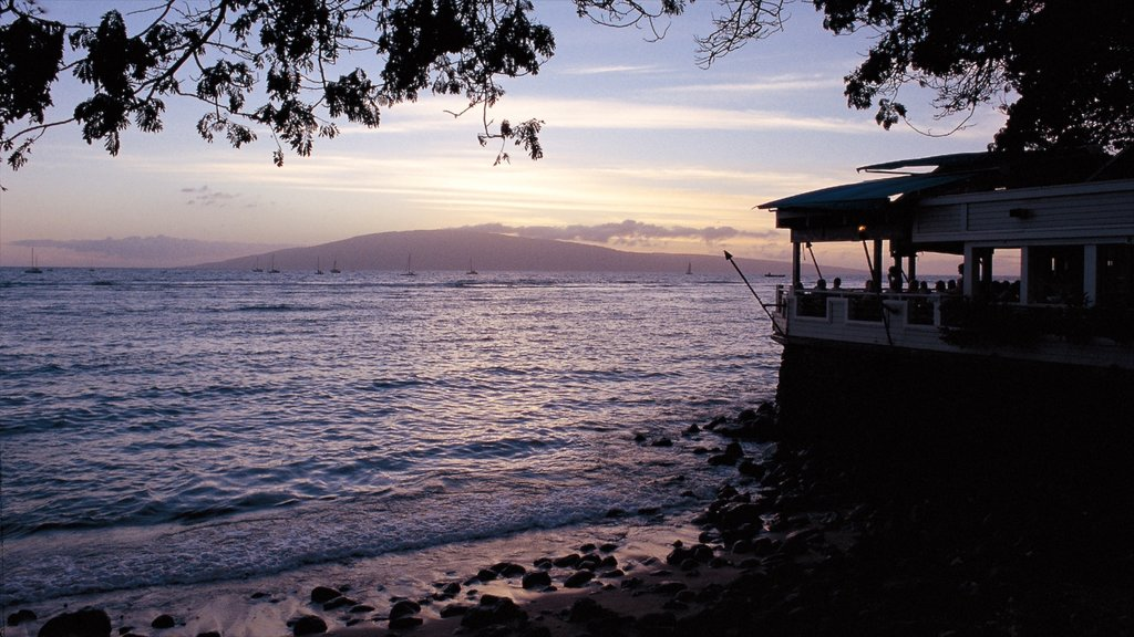 Lahaina showing landscape views, general coastal views and a sunset