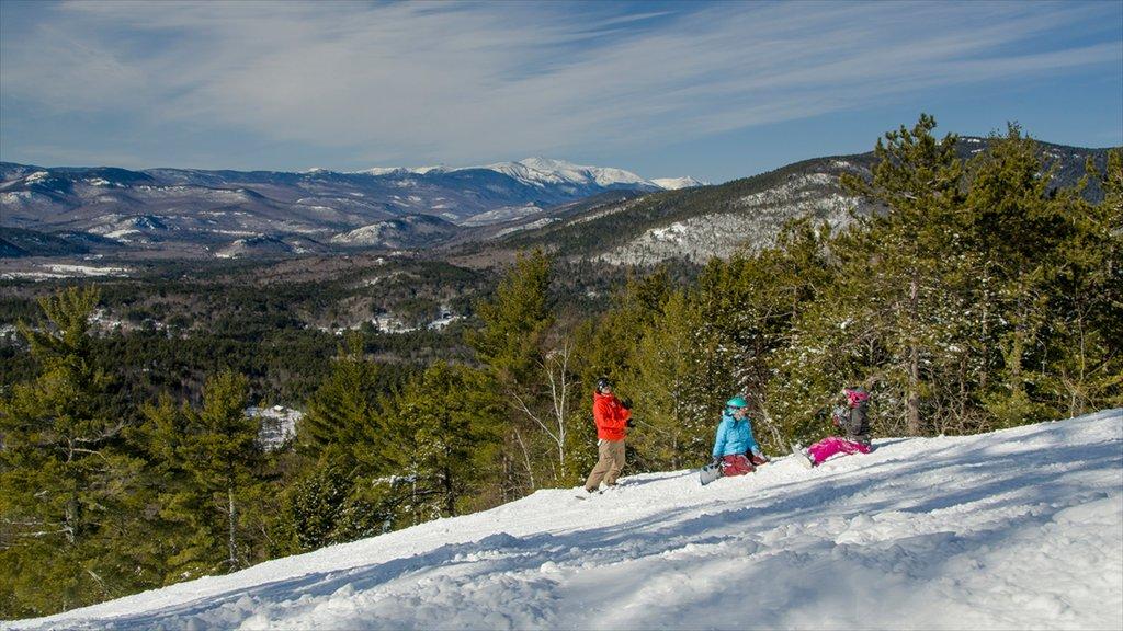 North Conway mostrando nieve, montañas y vistas de paisajes