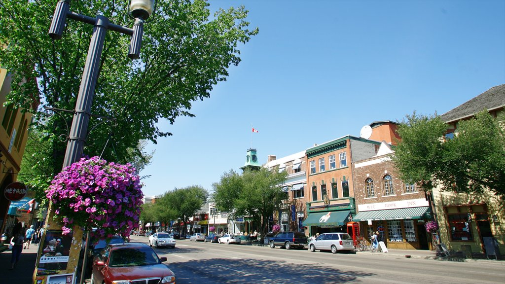 Old Strathcona which includes skyline, a city and street scenes
