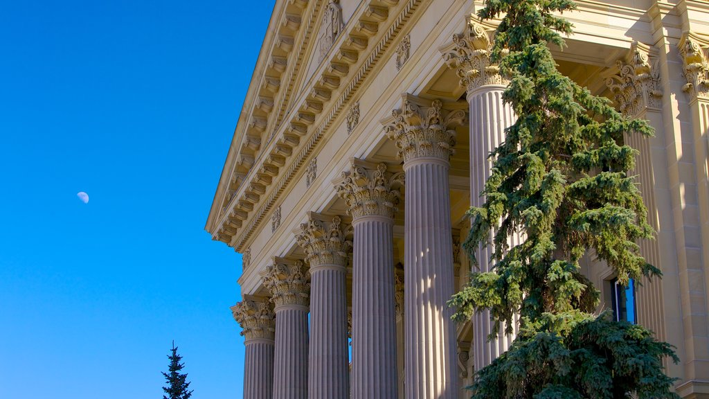 Alberta Legislature Building featuring an administrative buidling and heritage architecture