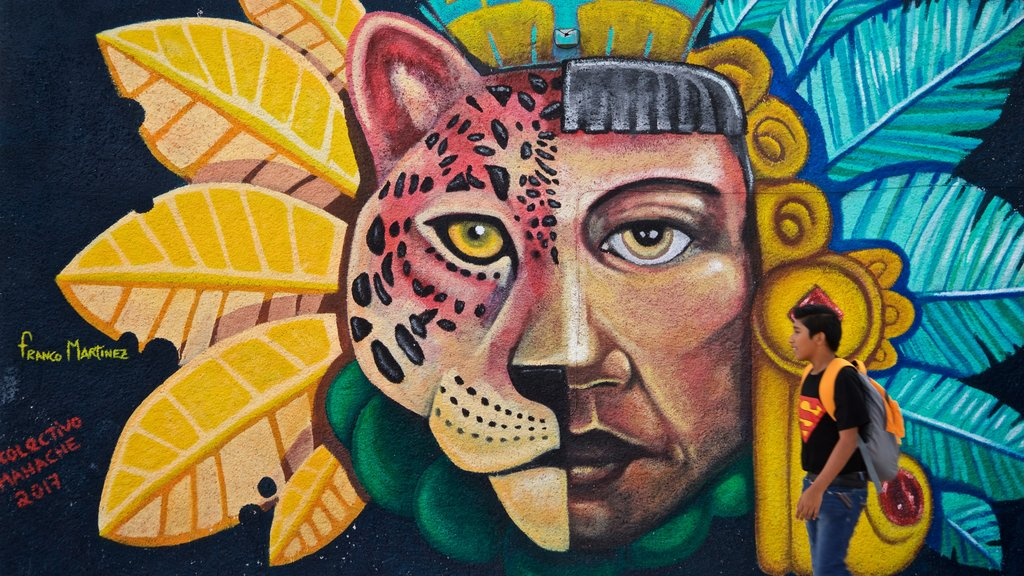 Isla Mujeres which includes outdoor art as well as an individual child