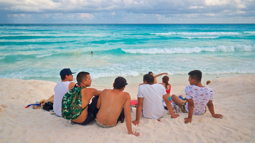 Cancun which includes a sandy beach, tropical scenes and general coastal views