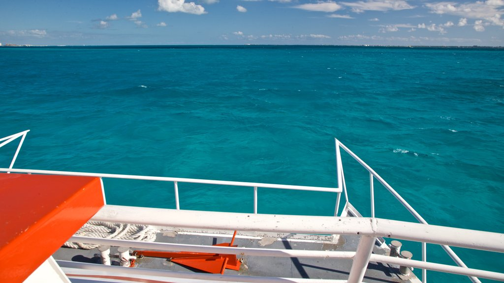 Isla Mujeres showing general coastal views and tropical scenes