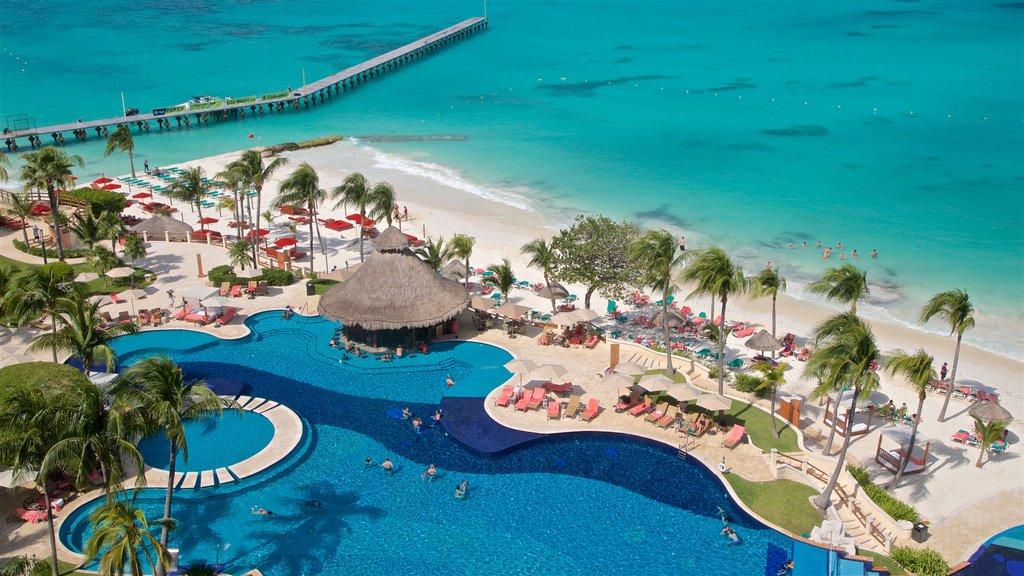 Cancun which includes landscape views, a sandy beach and general coastal views