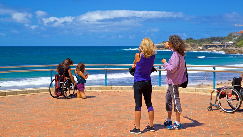 Coogee Beach featuring general coastal views and views as well as a couple
