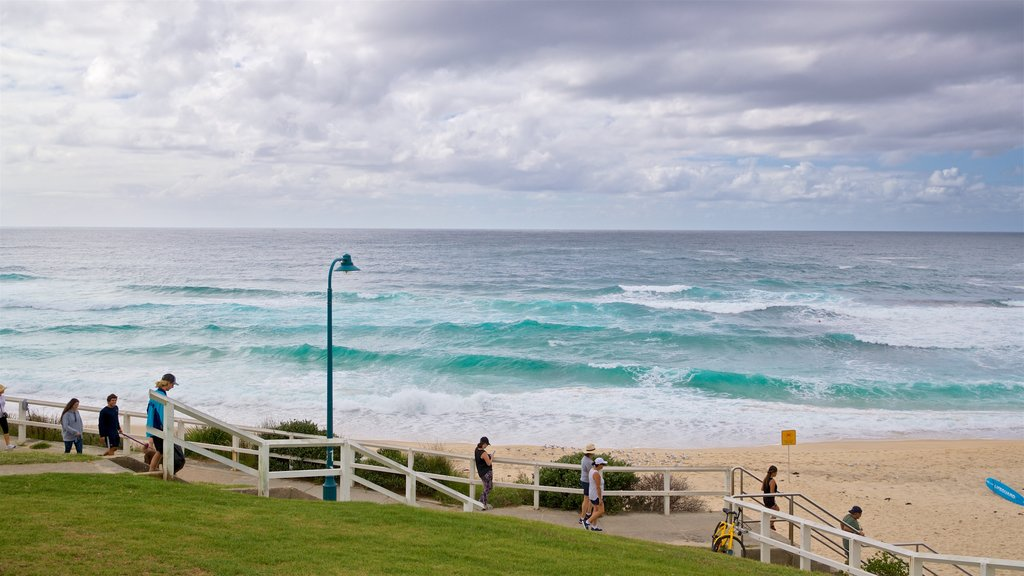 Bronte Beach which includes general coastal views and a beach as well as a small group of people