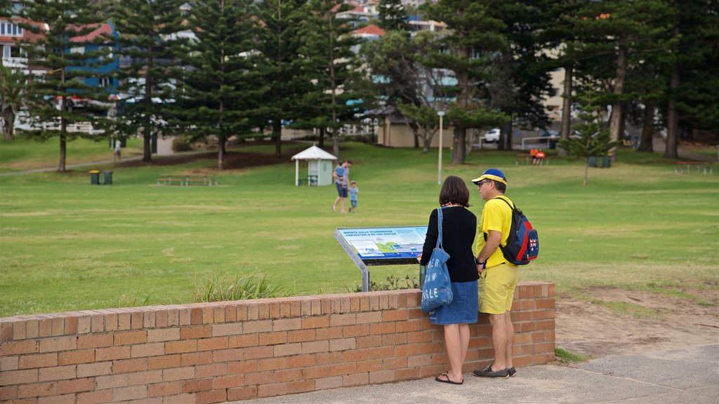 Bronte Beach which includes a park as well as a couple
