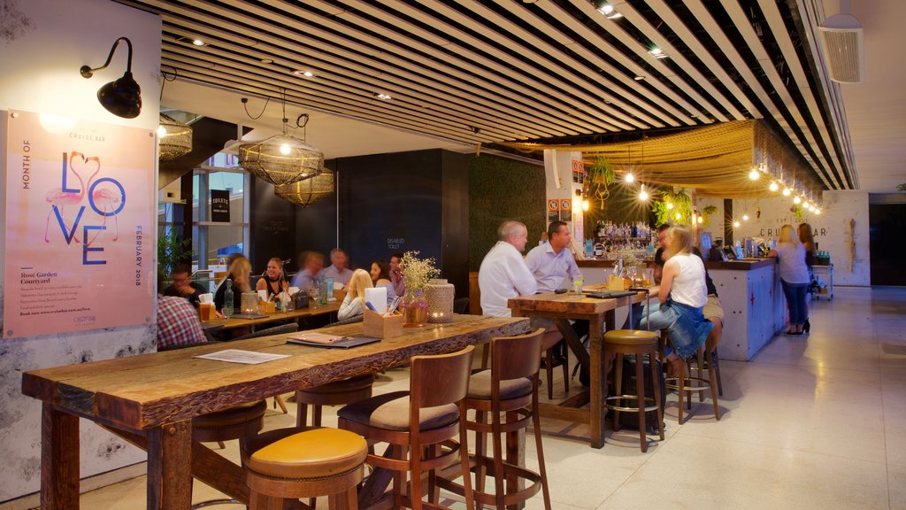 Sydney which includes nightlife, a bar and interior views