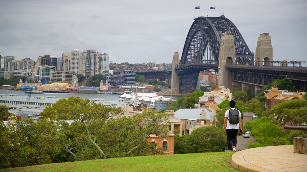 Millers Point featuring a city, a bridge and a park