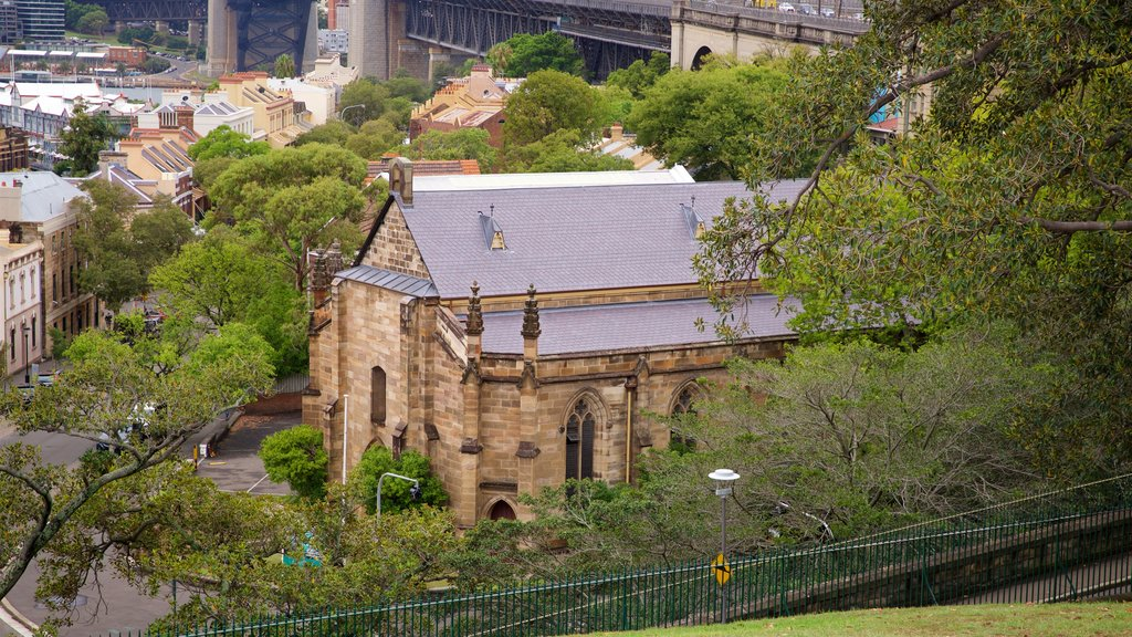 Circular Quay - The Rocks showing a church or cathedral