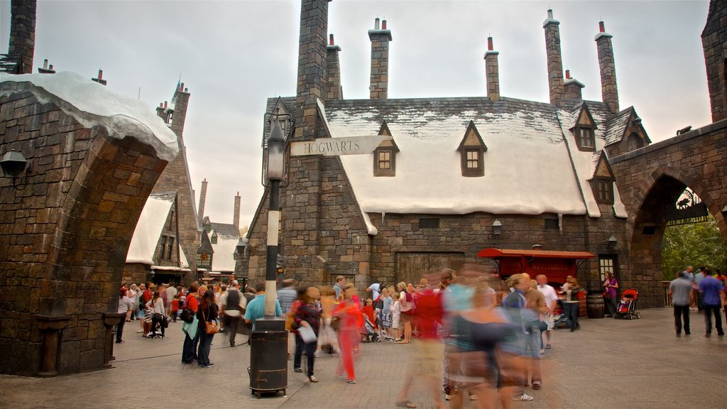 The Wizarding World of Harry Potter™ which includes rides as well as a small group of people