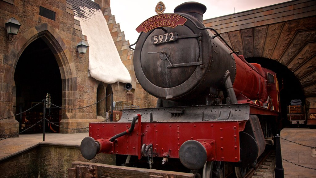 The Wizarding World of Harry Potter™ showing rides as well as an individual male