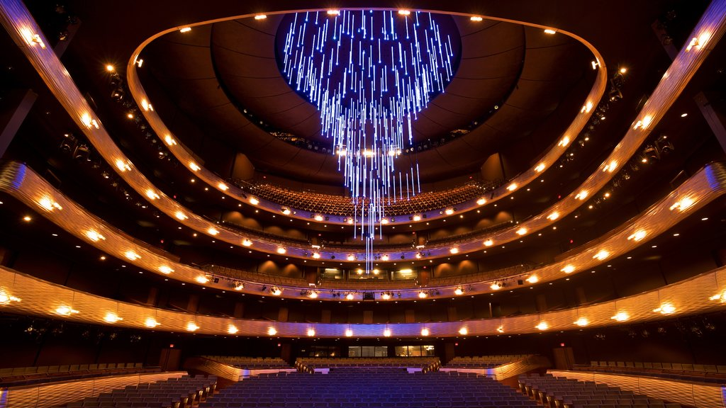 ATT Performing Arts Center which includes theater scenes and interior views
