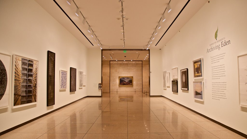 Amon Carter Museum showing interior views and art