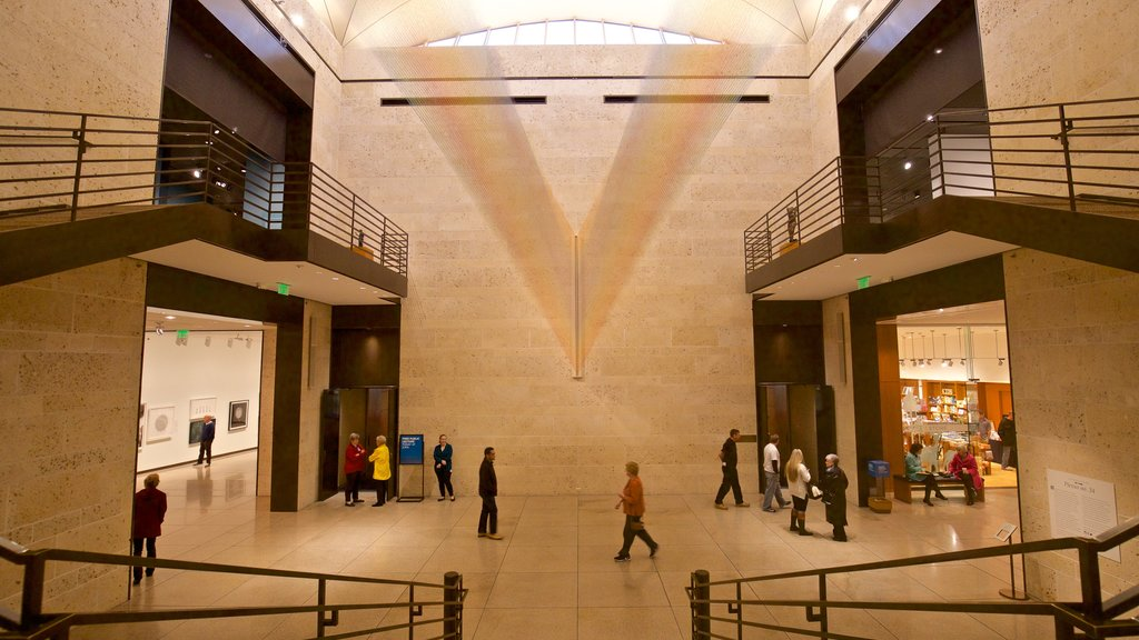Amon Carter Museum which includes interior views as well as a small group of people