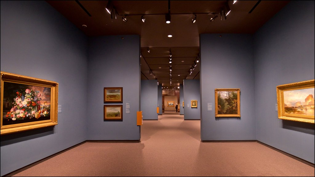 Amon Carter Museum featuring interior views and art