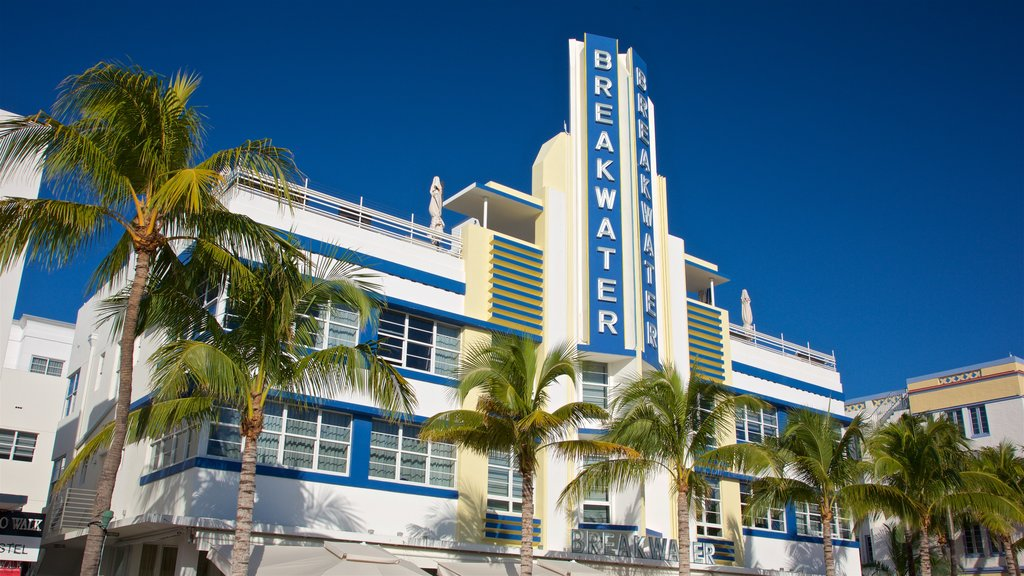Art Deco Historic District featuring signage