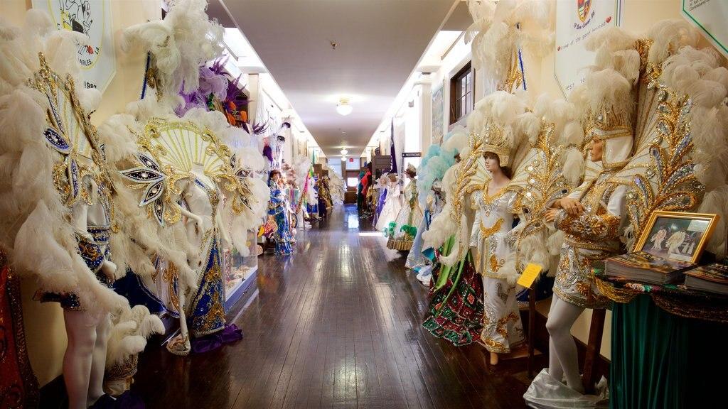 Mardi Gras Museum of Imperial Calcasieu showing interior views