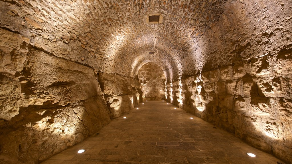 Ajloun Castle which includes heritage elements and interior views