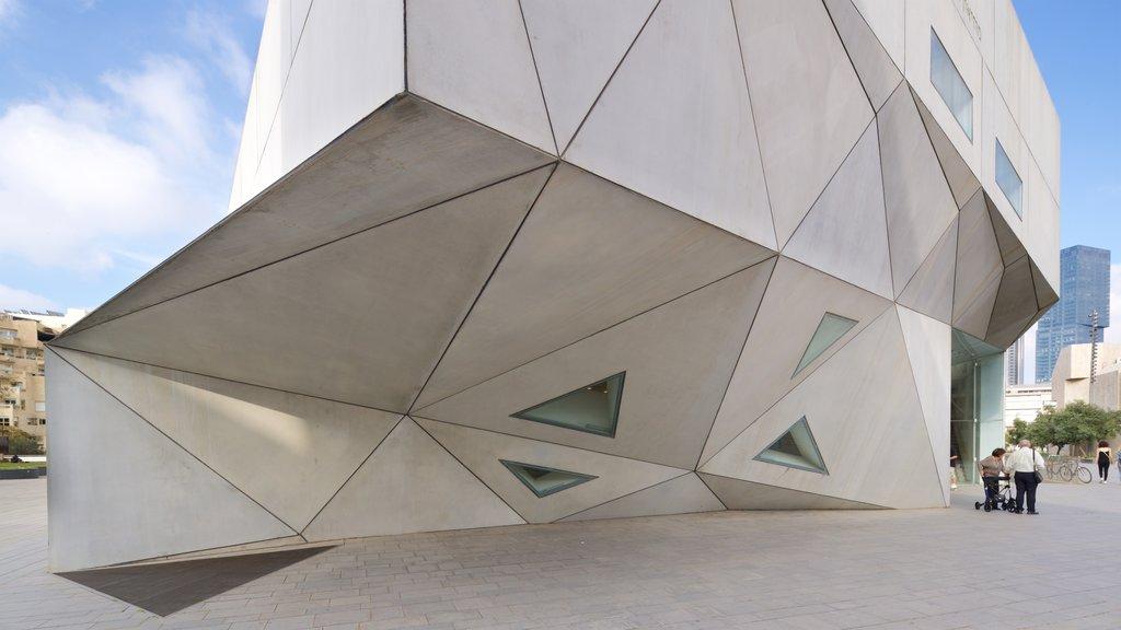 Tel Aviv Museum of Art featuring modern architecture