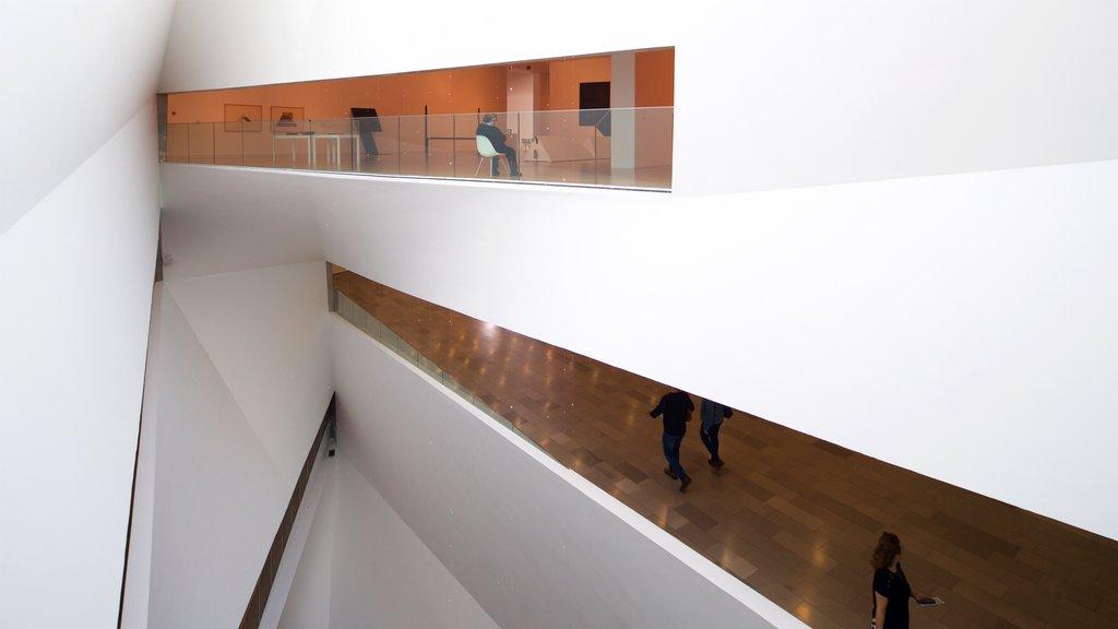 Tel Aviv Museum of Art featuring interior views