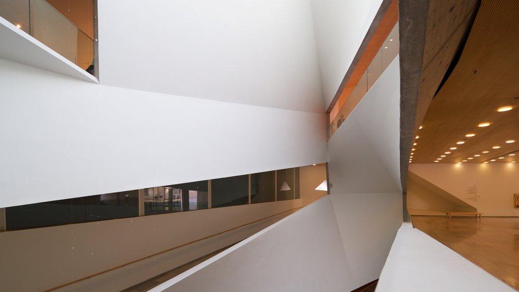 Tel Aviv Museum of Art showing interior views